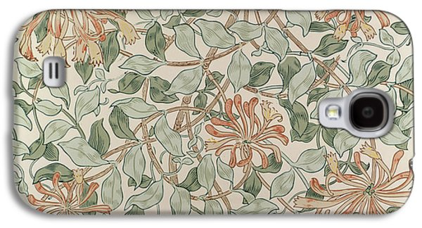Print Tapestries - Textiles Galaxy S4 Cases - Honeysuckle Design Galaxy S4 Case by William Morris