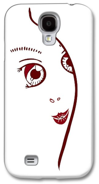 Youthful Galaxy S4 Cases - Illustration Of A Fashion Model Galaxy S4 Case by Frank Tschakert