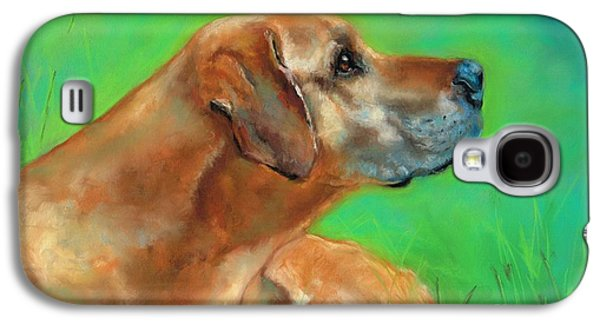 Dogs Pastels Galaxy S4 Cases - Jasper Galaxy S4 Case by Frances Marino