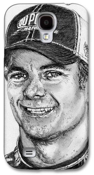 Owner Drawings Galaxy S4 Cases - Jeff Gordon in 2010 Galaxy S4 Case by J McCombie