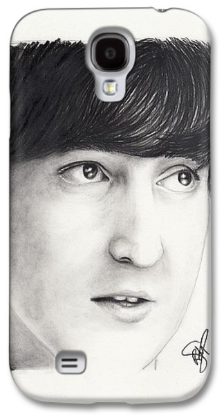 Beatles Galaxy S4 Cases - John Lennon Galaxy S4 Case by Rosalinda Markle