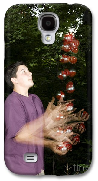 Juggling Galaxy S4 Cases - Juggling Balls Galaxy S4 Case by Ted Kinsman