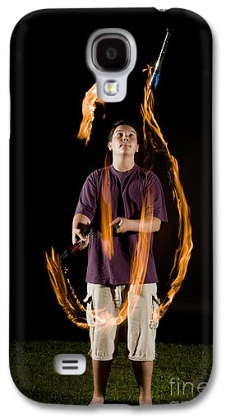 Juggling Galaxy S4 Cases - Juggling Fire Galaxy S4 Case by Ted Kinsman