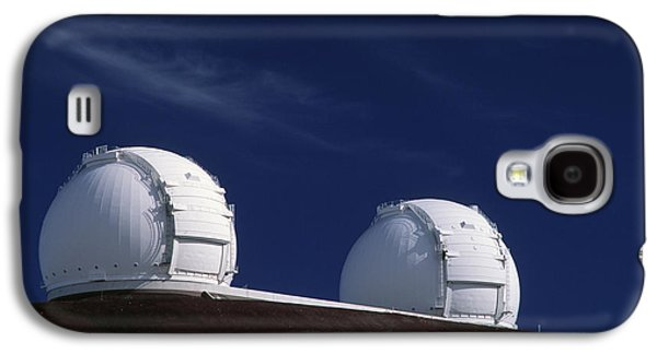 Keck Galaxy S4 Cases - Keck I And Ii Observatories On Mauna Kea, Hawaii Galaxy S4 Case by David Nunuk