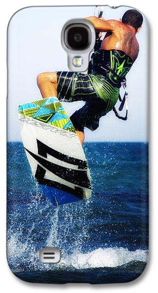 Kiteboarding Galaxy S4 Cases - Kitesurfer Galaxy S4 Case by Stylianos Kleanthous