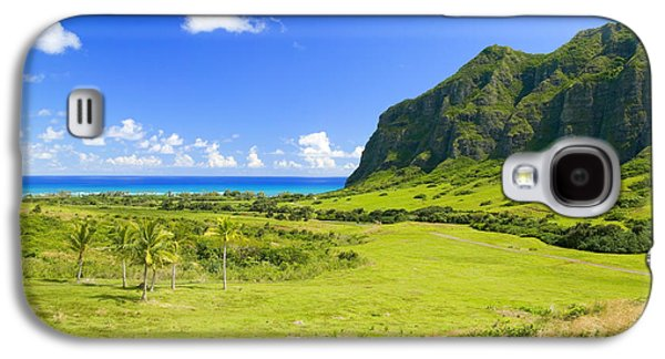 Pastureland Galaxy S4 Cases - Kualoa Ranch Mountains Galaxy S4 Case by Dana Edmunds - Printscapes