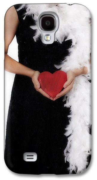20s Galaxy S4 Cases - Lady With Heart Galaxy S4 Case by Joana Kruse