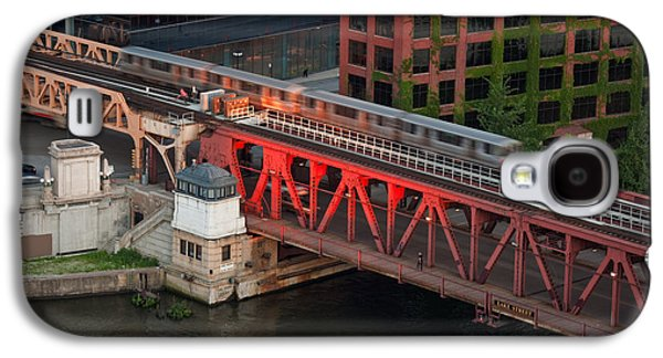 Chicago River Galaxy S4 Cases - Lake Street Crossing Chicago River Galaxy S4 Case by Steve Gadomski