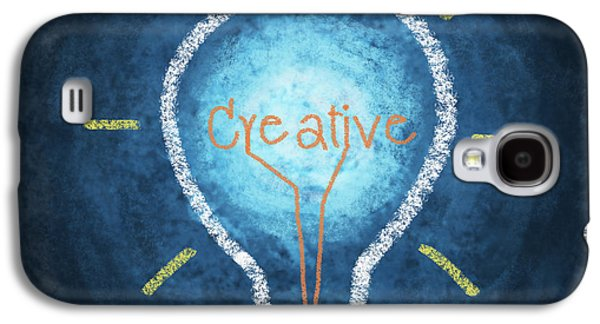Creativity Galaxy S4 Cases - Light Bulb Design Galaxy S4 Case by Setsiri Silapasuwanchai