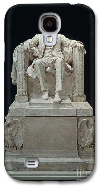 Statue Portrait Galaxy S4 Cases - Lincoln Memorial: Statue Galaxy S4 Case by Granger
