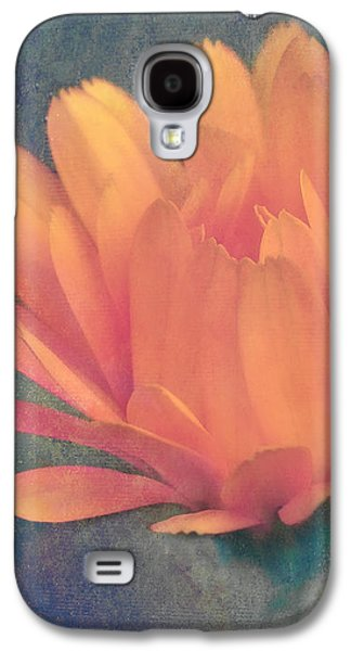 Texture Flower Galaxy S4 Cases - Little Flower Galaxy S4 Case by Angela Doelling AD DESIGN Photo and PhotoArt