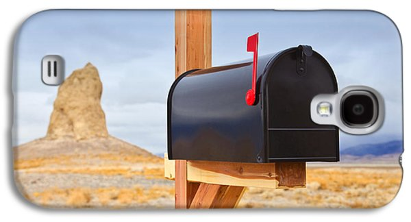 Us Postal Service Galaxy S4 Cases - Mailbox in Desert Galaxy S4 Case by David Buffington