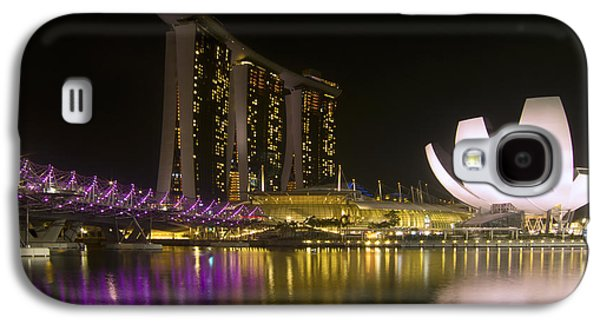Vivid Colour Galaxy S4 Cases - Marina Bay Sands Hotel and ArtScience Museum in Singapore Galaxy S4 Case by Zoe Ferrie