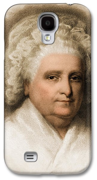 Lady Washington Galaxy S4 Cases - Martha Washington, American Patriot Galaxy S4 Case by Photo Researchers