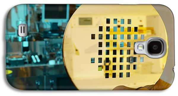 Component Photographs Galaxy S4 Cases - Mems Production, Machined Silicon Wafer Galaxy S4 Case by Colin Cuthbert