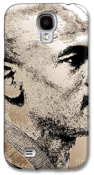 Endorsement Mixed Media Galaxy S4 Cases - Michael Jordan in 1990 Galaxy S4 Case by J McCombie
