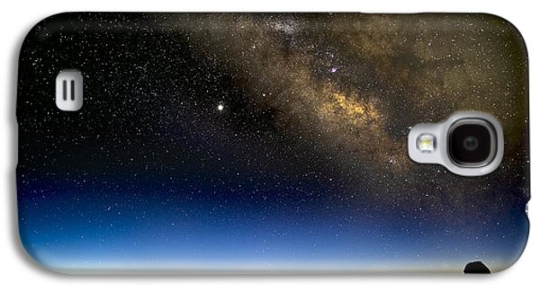 Keck Galaxy S4 Cases - Milky Way And Observatories, Hawaii Galaxy S4 Case by David Nunuk
