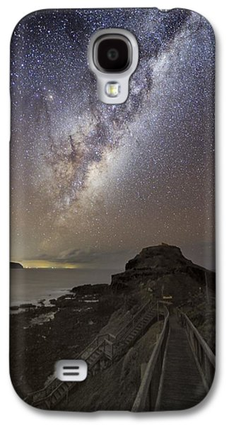 Moonlit Night Photographs Galaxy S4 Cases - Milky Way Over Cape Schanck, Australia Galaxy S4 Case by Alex Cherney, Terrastro.com