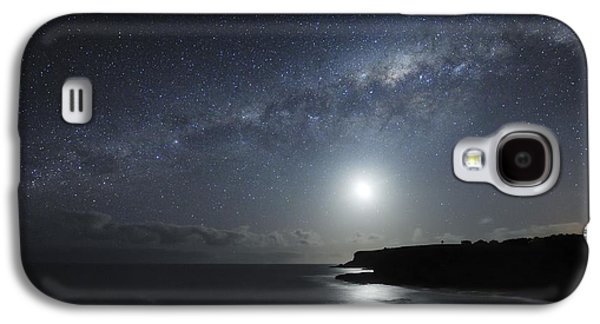 Moonlit Night Photographs Galaxy S4 Cases - Milky Way Over Mornington Peninsula Galaxy S4 Case by Alex Cherney, Terrastro.com