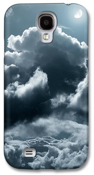 Moonlit Night Photographs Galaxy S4 Cases - Moonlit Clouds Galaxy S4 Case by Detlev Van Ravenswaay
