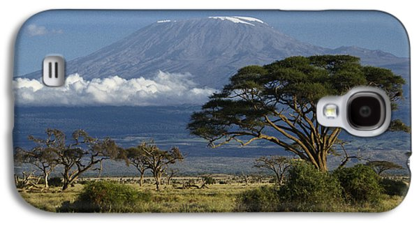 Horizontal Photographs Galaxy S4 Cases - Mount Kilimanjaro Galaxy S4 Case by Michele Burgess