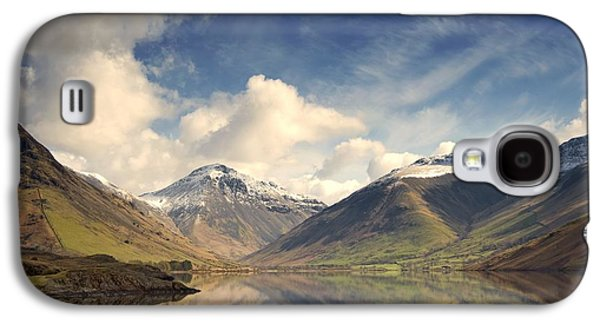 Snow Capped Galaxy S4 Cases - Mountains And Lake At Lake District Galaxy S4 Case by John Short