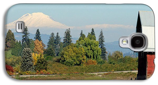 Barn Pen And Ink Galaxy S4 Cases - Mt. Adams In The Country Galaxy S4 Case by Athena Mckinzie