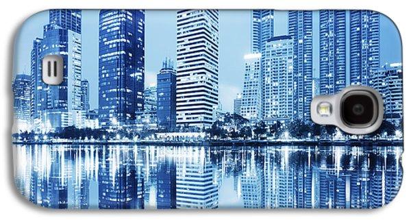 Reflections Galaxy S4 Cases - Night Scenes Of City Galaxy S4 Case by Setsiri Silapasuwanchai