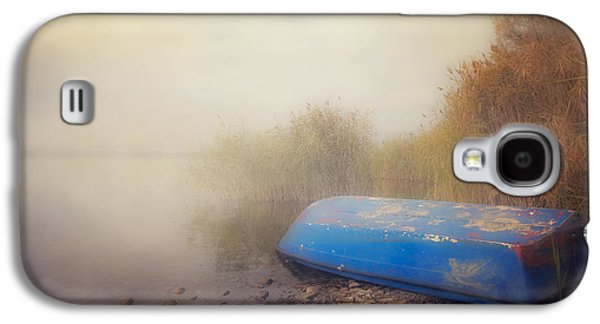 Boats In Water Galaxy S4 Cases - Old Boat In Morning Mist Galaxy S4 Case by Joana Kruse