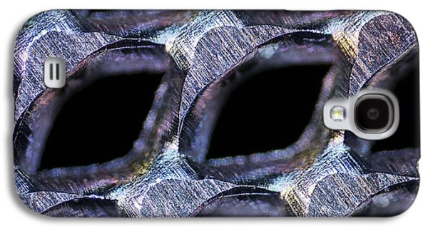 Metal Sheet Galaxy S4 Cases - Perforated Steel Sheet, Light Micrograph Galaxy S4 Case by Pasieka