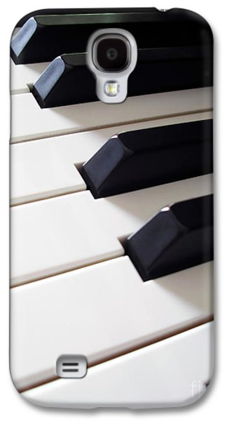 Keyboards Photographs Galaxy S4 Cases - Piano Keys Galaxy S4 Case by Carlos Caetano