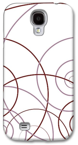 Swirly Galaxy S4 Cases - Pink And Red Abstract Galaxy S4 Case by Frank Tschakert