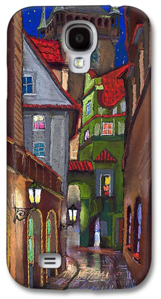 Street Drawings Galaxy S4 Cases - Prague Old Street  Galaxy S4 Case by Yuriy  Shevchuk