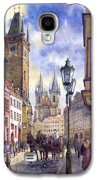 Town Galaxy S4 Cases - Prague Old Town Square 01 Galaxy S4 Case by Yuriy  Shevchuk