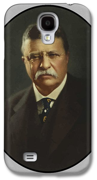 America Paintings Galaxy S4 Cases - President Theodore Roosevelt  Galaxy S4 Case by War Is Hell Store