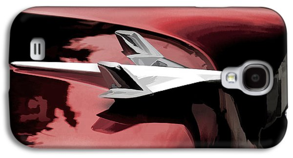 Abstractions Galaxy S4 Cases - Red Chevy Jet Galaxy S4 Case by Douglas Pittman
