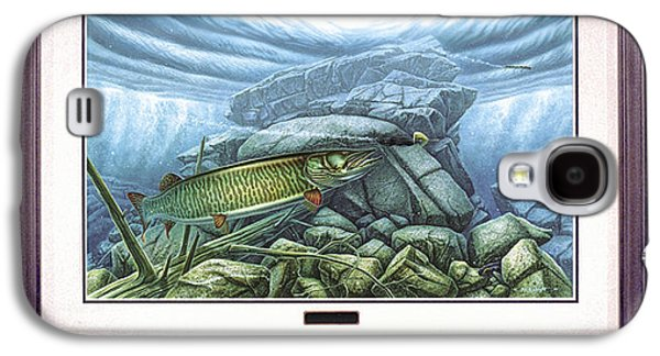 Tackle Galaxy S4 Cases - Reef King Musky Galaxy S4 Case by JQ Licensing