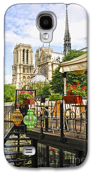 Landmarks Photographs Galaxy S4 Cases - Restaurant on Seine Galaxy S4 Case by Elena Elisseeva