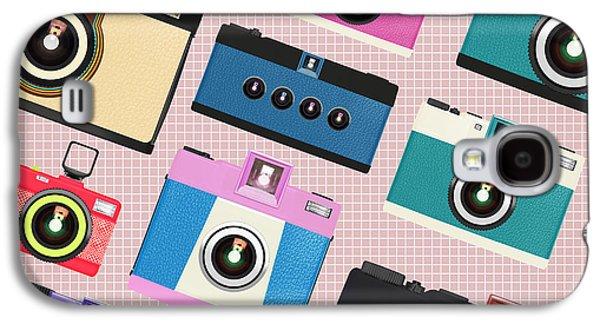 Analog Galaxy S4 Cases - Retro Camera Pattern Galaxy S4 Case by Setsiri Silapasuwanchai