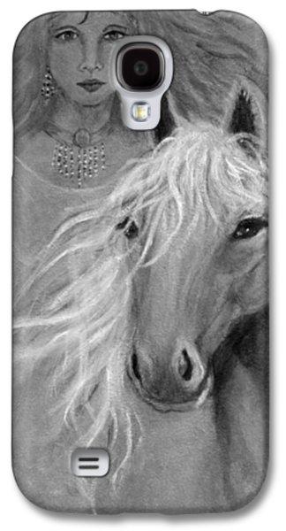 Charlotte Mixed Media Galaxy S4 Cases - Rhiannon Galaxy S4 Case by The Art With A Heart By Charlotte Phillips