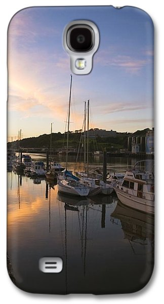 Boats In Reflecting Water Galaxy S4 Cases - River Suir, From Millenium Plaza Galaxy S4 Case by The Irish Image Collection