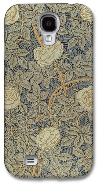 Flowers Tapestries - Textiles Galaxy S4 Cases - Rose Galaxy S4 Case by William Morris