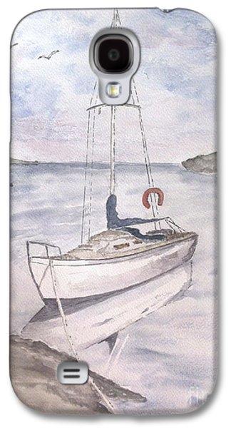 Sailboats Drawings Galaxy S4 Cases - Sailing Galaxy S4 Case by Eva Ason