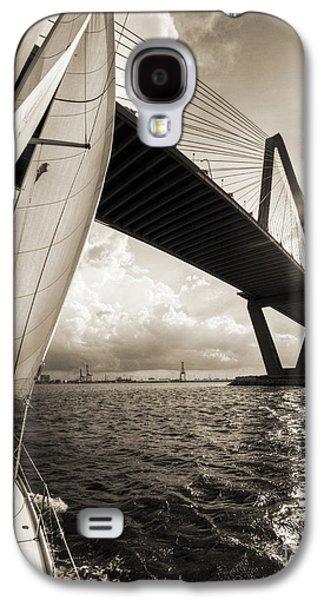 Sailing Galaxy S4 Cases - Sailing on the Charleston Harbor Beneteau Sailboat Galaxy S4 Case by Dustin K Ryan