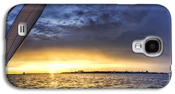 Amazing Sunset Galaxy S4 Cases - Sailing Sunset Charleston SC Galaxy S4 Case by Dustin K Ryan
