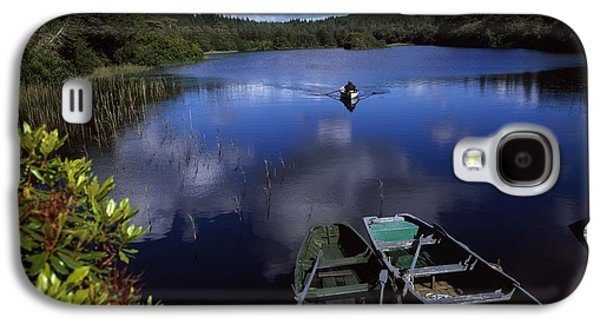Boats In Reflecting Water Galaxy S4 Cases - Salmon Fishing, Ballinahinch Galaxy S4 Case by The Irish Image Collection