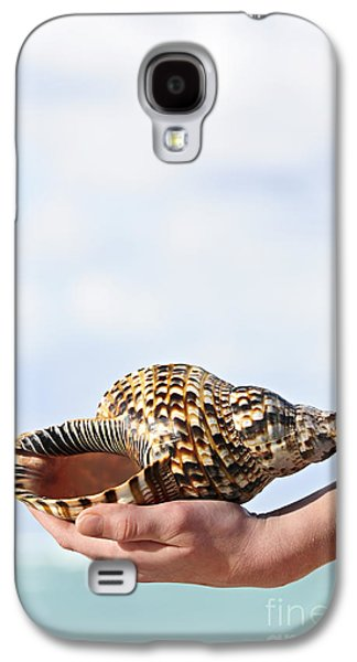 Concept Photographs Galaxy S4 Cases - Seashell in hand Galaxy S4 Case by Elena Elisseeva
