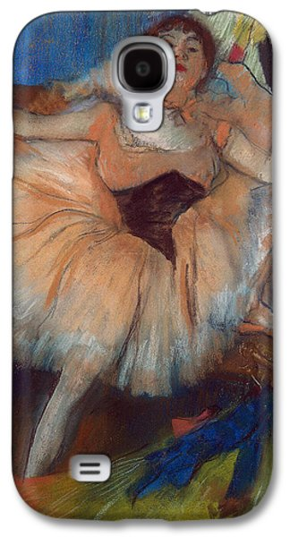 Cardboard Galaxy S4 Cases - Seated Dancer Galaxy S4 Case by Edgar Degas