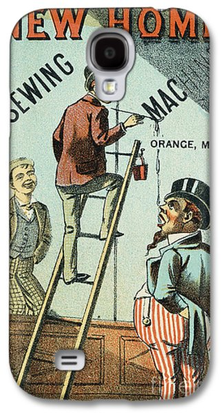 1880s Galaxy S4 Cases - Sewing Machine Trade Card Galaxy S4 Case by Granger