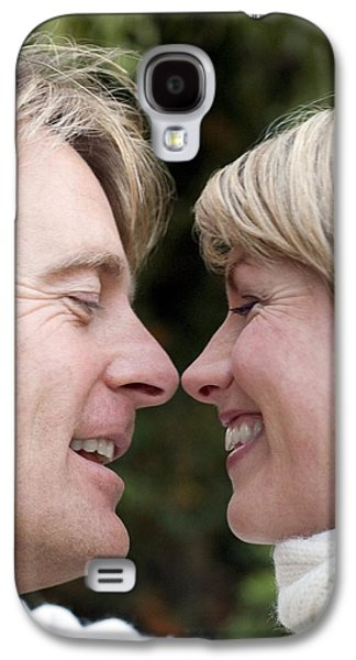 Women Together Galaxy S4 Cases - Smiling Couple Embracing Galaxy S4 Case by Ian Boddy